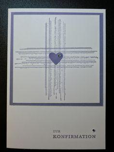 """Sconebeker Stempelscheune: Konfirmationskarte mit dem Stampin up Set """" Gorgeous Grunge """""""