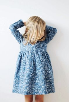 Handmade Blue Floral Print Dress | OffOn on Etsy