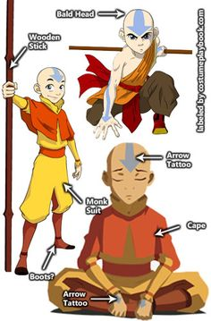 Costume for Aang Last Airbender. Full costume guide on the Link above