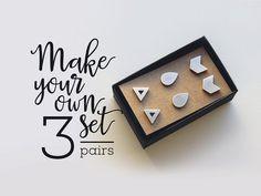 Geschenk für ihr Gestüt Ohrring Set von 3 Paar / von AshkalJewelry