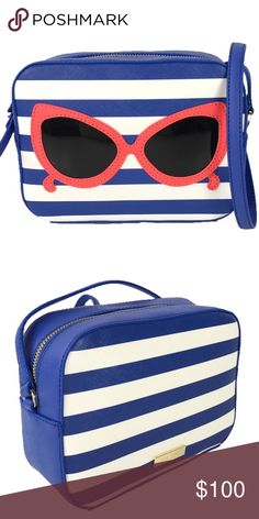KS NY Mindy Make A Splash Sunglasses Crossbody Vibrant colors and the cutest pair of sunglasses stitched in the front, this bag is a must have for summer! Brand new, never used. The strap is 22 inches. kate spade Bags Crossbody Bags