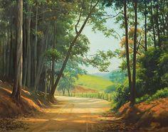 Paisagem. 1971. Óleo sobre tela. Edgar Walter (Nova Lima, Minas Gerais, Brasil, 20/11/1917 - 14/05/1994, Petrópolis, Rio de Janeiro, Brasil).