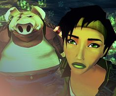 If its made by Michel Ancel, it's probably going to be good no matter how strange. Beyond Good And Evil, Sad Pictures, Adventure Games, Video Game Art, Indie Games, Facial Expressions, Aliens, Videogames, Jade