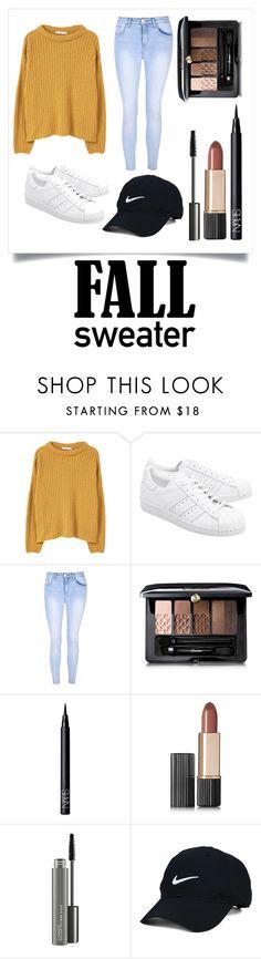 """Fall Sweater"" by rjames549 ❤ liked on Polyvore featuring MANGO, adidas Originals, Glamorous, Guerlain, NARS Cosmetics, Estée Lauder, MAC Cosmetics and Nike Golf"