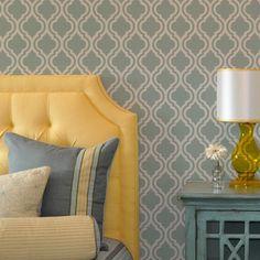 Doppelzimmer MAROKKANISCHE Wand Schablone DESIGN Schablone Design ist: 16 x 30 dieses Design kommt mit einer separaten individuelle Schablone zu erleichtern, die Lücken zu füllen, die nah an der Decken- oder strengere Orten wie um Formteile, Schalter Licht oder Ecken. Registrierung ist in jedem unserer wiederholten Muster Schablonen für einfache Justage integriert. Detaillierte Anleitung Schablonieren sind bei jeder Bestellung enthalten. Unsere Schablonen sind aus einer dauerhaften 10 Mil…