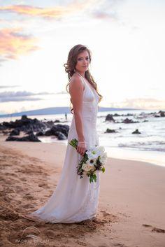 Halter Wedding Dress Weddings In Hawaii Beach Photographer Oahu Kauai Maui