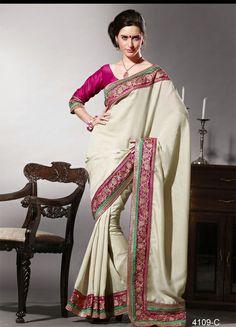 Pashmina silk With traditional Border #partywearsaree