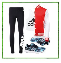 """""""lets get sporty"""" by explorer-14856082701 on Polyvore featuring NIKE and adidas"""