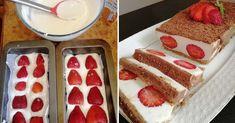 Tento dezert podľa receptu z portálu napadovy.blog bude v lete skutočným pôžitkom.Netreba ho piecť a je to dokonalá osviežujúca maškrta!Potrebujeme:350 g jahôd250 g sušienok80 g masla20 g želatíny15 g vanilkového cukru700 g tvarohu150 g krupicového … Cheesecake, Desserts, Food, Tailgate Desserts, Deserts, Cheesecakes, Essen, Postres, Meals