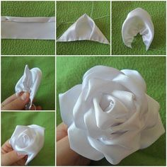 DIY Silk Ribbon Rose | iCreativeIdeas.com Follow Us on Facebook --> https://www.facebook.com/iCreativeIdeas