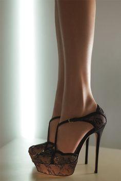 Valentino Crystal Embellished Lace Sandal
