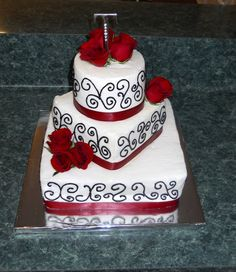 red Wedding Cake Designs | The Happy Caker