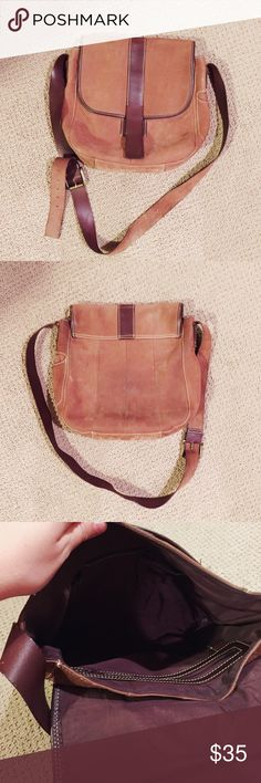 Eddie Bauer Leather Crossbody Great Condition! Soft leather with minor wear in back and inside. Eddie Bauer Bags Crossbody Bags