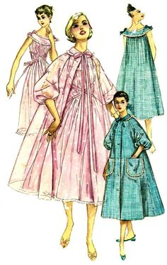 7f358b4a54 1950s Womens Nightgown Negligee Brunch Coat by patternshop on Etsy