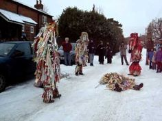 Mummers on the piste in rural England