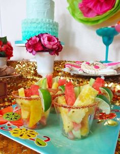 Fancy Fiesta themed birthday party with Lots of Really Fun Ideas via Kara's Party Ideas | Cake, decor, cupcakes, desserts, printables, activ...: