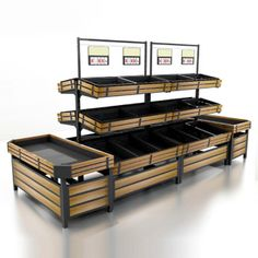 Vegetable And Fruit Display Rack for Supermarket Retail Store Design, Retail Shop, Vegetable Rack, Veggie Tray, Fruit And Veg Shop, Fruit Displays, Retail Displays, Shop Displays, Merchandising Displays