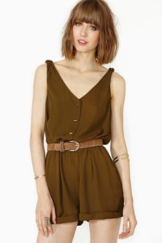 Odette Romper - Olive from Picsity.com