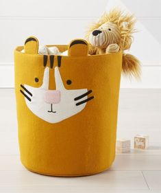 Shop Tiger Storage Bin. Show your true stripes with our tiger storage bin. With soft-sided construction, it's safe for all ages.