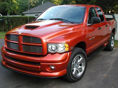 2005 Dodge Ram Daytona1500 4x4 • 5.7Liter Hemi • Quad Cab • Color: GoManGo! [*Fact: The Dodge Ram Daytona1500 trucks were manufactured in 2005, exclusively, and are individually numbered! ] [image credit: unknown]