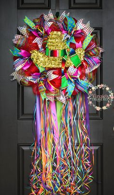 Fiesta Wreath, Sombrero Fiesta Deco Mesh Wreath, Fiesta San Antonio, Cinco De Mayo Wreath, Viva Fiesta Wreath, Charro Days Wreath by VirgiesTreasures on Etsy