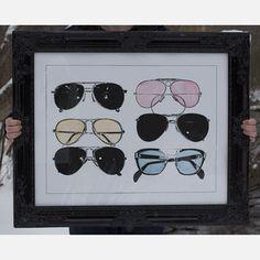 One Kings Lane - The Art Shop - Aviators Watercolor Ray Ban Sunglasses Sale, Cat Eye Sunglasses, Round Sunglasses, Sunglasses Holder, Sunglasses 2016, Sunglasses Outlet, Aviator Glasses, One Kings Lane, Tech Accessories