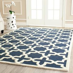 Redecorating the new home... Lexington Rug in Navy Blue