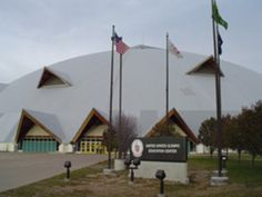 The world's largest wooden dome. The dome has a retractable turf, three basketball courts, tennis courts, and volleyball courts. It is host to trade shows, banquets, conferences, and athletic events.