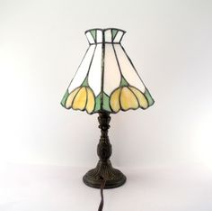 Stained Glass Accent Lamp – Art Nouveau by:-Debbie Martens