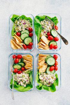 Delicious and easy-to-make meal prep tuna salad (or a regular batch tuna salad!)… Delicious and easy-to-make meal prep tuna salad (or a regular batch tuna salad!) This is the BEST EVER tuna salad recipe using Genova Seafood's albacore tuna! Healthy Tuna, Good Healthy Recipes, Lunch Recipes, Seafood Recipes, Healthy Snacks, Healthy Eating, Cooking Recipes, Salad Recipes, Dinner Recipes