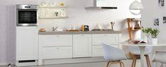 Grey and white kitchen Kitchen Dining, Kitchen Cabinets, Dining Room, Ideas Prácticas, Ideas Para, Gray And White Kitchen, Natural Bathroom, Nordic Design, Interior Design