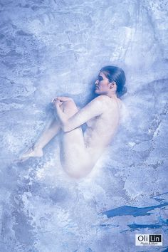 Into the ice #winter #sexy #ice #white #cold #woman