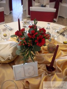 dark red gerbera and roses with hyppericum Wedding Decorations, Table Decorations, Wedding 2015, Gerbera, Dark Red, Wedding Table, Roses, Gift Wrapping, Flowers