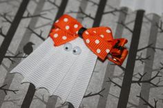 Halloween Hair Clips. Ghost Hair Clip. Baby Hair by mommyandco, $4.00