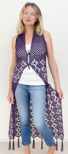 Long Vest Lc1337 Free Patterns Yarn Crochet Vests Pinterest