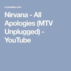 Nirvana - All Apologies (MTV Unplugged) - YouTube