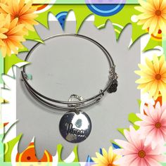Silver Bangle Bracelet Earring Set Nana This set is the perfect gift for your Grandmother or special person in your life. This is not a real Alex and Ani Alex & Ani Jewelry Bracelets