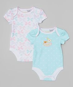 Turquoise Boat Bodysuit Set by Happi by Dena #zulily #zulilyfinds