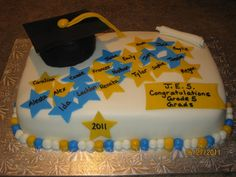 5th Grade Graduation Party Themes Grade 5 graduation cake
