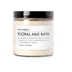 Floral Milk Bath Salts 5 oz. by Fig Yarrow ($12) ❤ liked on Polyvore featuring beauty products, bath & body products, fillers, beauty, makeup and cosmetics