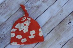 Coral Flower Knot Hat - My Bella Baby on Etsy