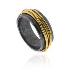 Ana Verdun,   Oxidised Wrapped Ring