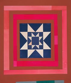 Lena Wolff: Double Eight Pointed Star, 2011 collage with hand-cut papers, watercolor, gouache 23 x 20 inches