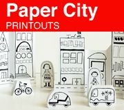 Free paper city printouts from Made By Joel.