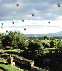 Boise, Idaho, hot air balloon, festival, City of Trees, Ann Morrison Park, foothills, sky, balloons. Promote progress in Boise at boisethinks.org