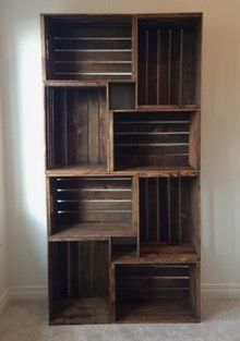 DIY crate bookshelf!