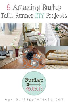 6 Amazing Burlap Table Runner DIY Projects