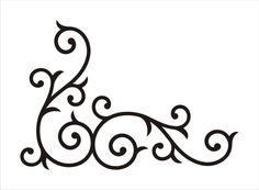 StencilCorner Border Floral Scroll design no 2 by oklahomastencil, $7.95