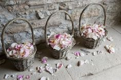 Rose Petal Confetti - love this idea coming out of the church. plus biodegradable. T X