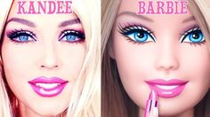 Kandee Johnson, KWEEN of YouTube makeup tutorials, made herself into a Barbie and it's almost impossible to tell them apart.